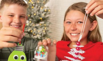 Holiday Snow Globe Craft for Kids